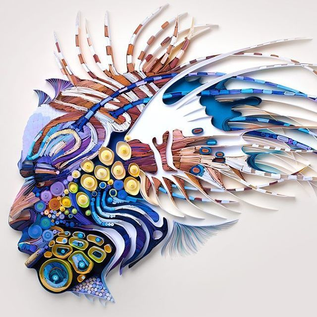 Click For More Pics Top Amazing Examples Of Quilling Yulia - Vibrant paper illustrations sculptures yulia brodskaya
