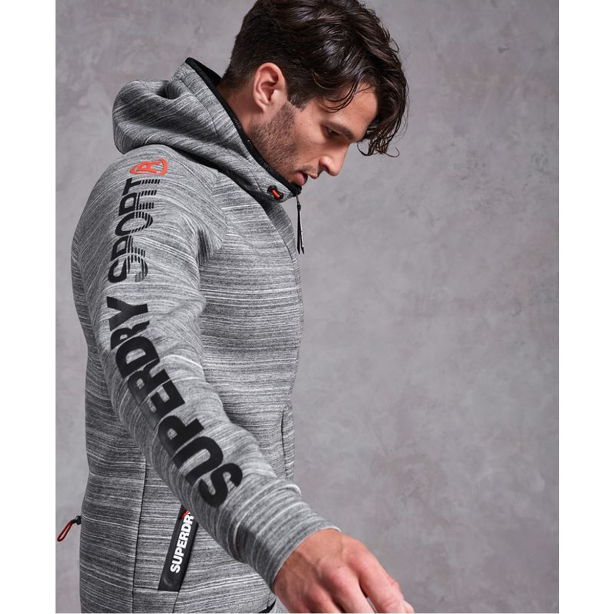 Sweat à capuche zippé en stretch Gym Tech | Capuche zippé