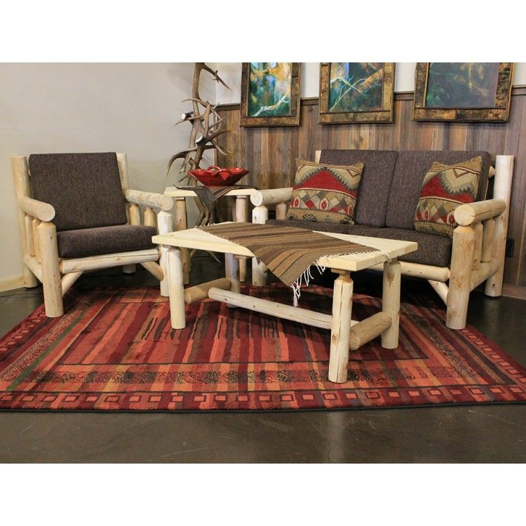 lakeland log living room set made in the usa simple to