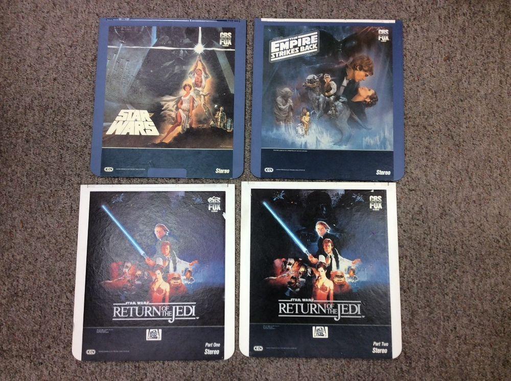 Star Wars Laserdisc Lot Original Trilogy 1982 84 86 Original