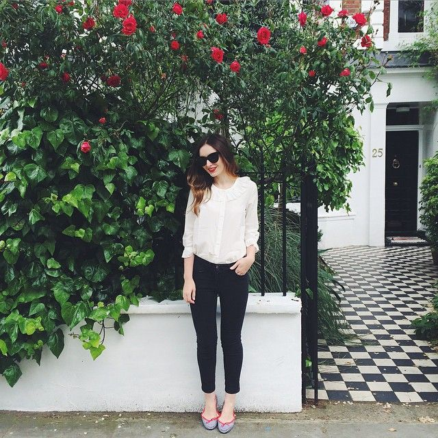 Today's monochrome #ootd to celebrate the @birchboxuk x @frenchsole collaboration!