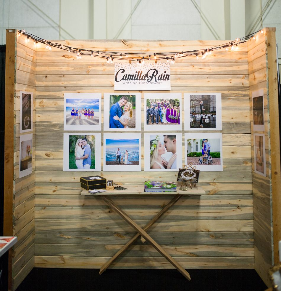 Wedding Photographer Booth Setup At A Bridal Show 1