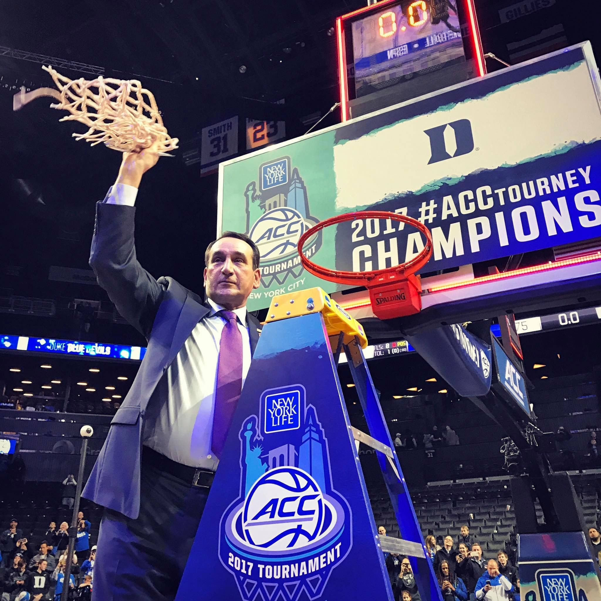 Coach K 2017 ACC Tournament Duke basketball, Duke blue