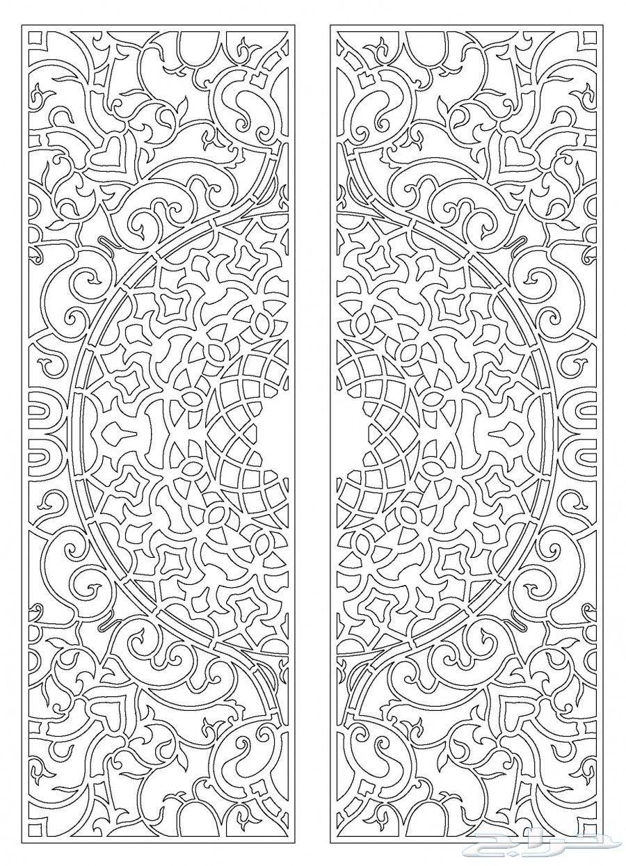 رسوم زخارف أبواب حديد واتس اب 0594685221 Stencil Patterns Islamic Art Pattern Pattern Art
