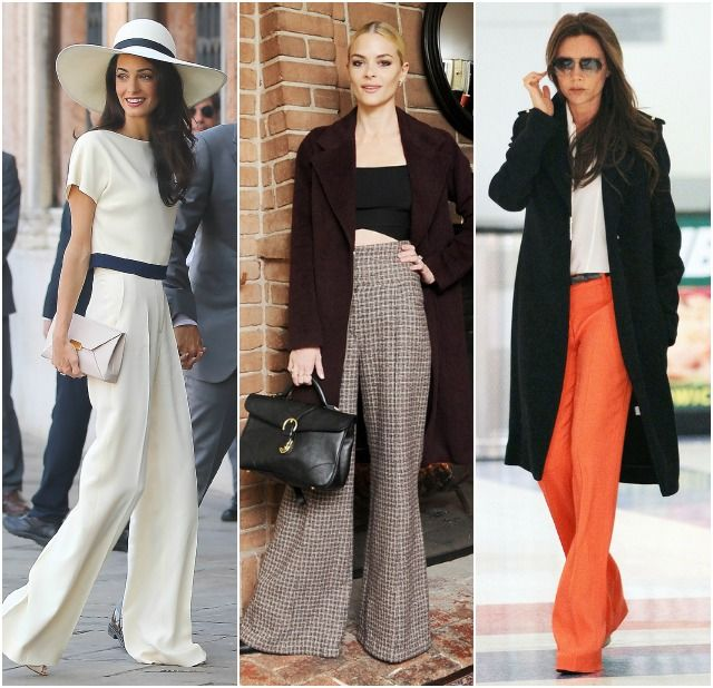 Sydne Style how to wear wide leg pants flare celebrity trend jaime ...