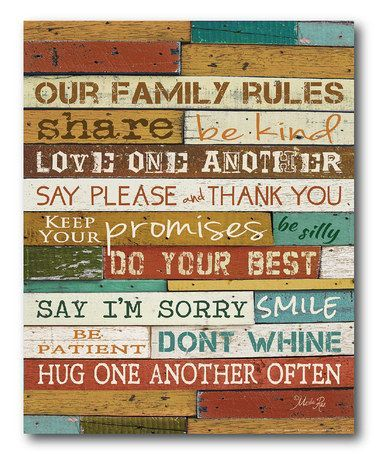 Family Rules Wall Art. | Kids | Pinterest | Family rules, Walls and ...