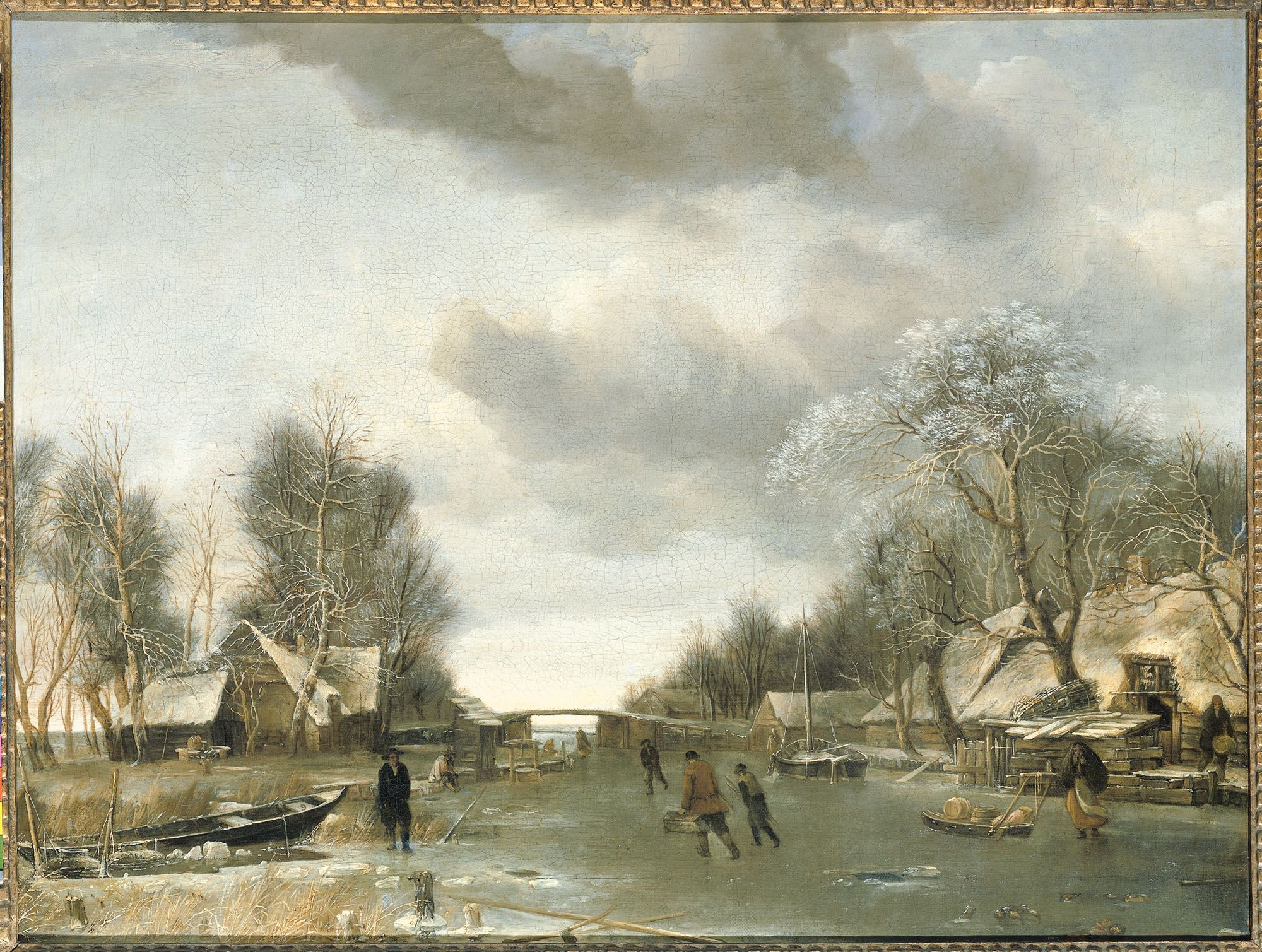 Jan van de Cappelle, Winter Scene. 1653