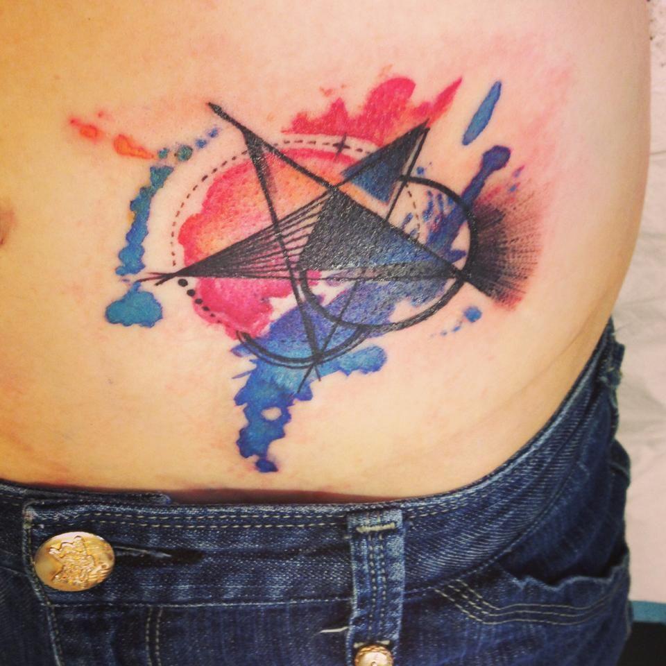 My Amazing Watercolour Star Tattoo Done By The Very Talented Chiuman Emma At Seventh Circle Studio In Brisbane Australia Star Tattoos Tattoos I Tattoo