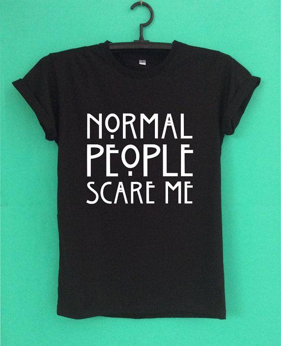 Top chemise normal les gens peur Me T ont un écran par GIRAFIE