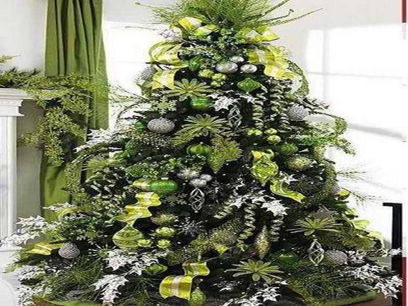 Lime Green Christmas Tree Decorations