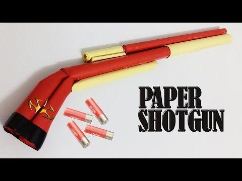 Как сделать бумажный дробовик который стреляет - YouTube