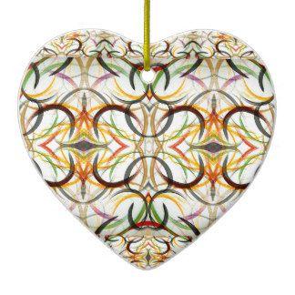 Ceramic Heart Ornaments