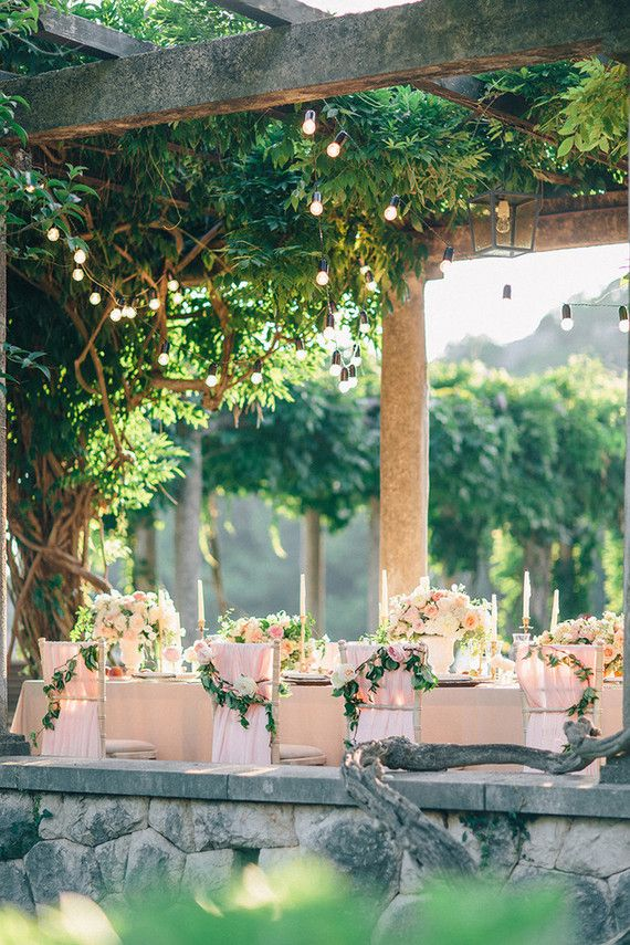 Intimate European garden wedding | Millennial Pink Wedding Ideas ...
