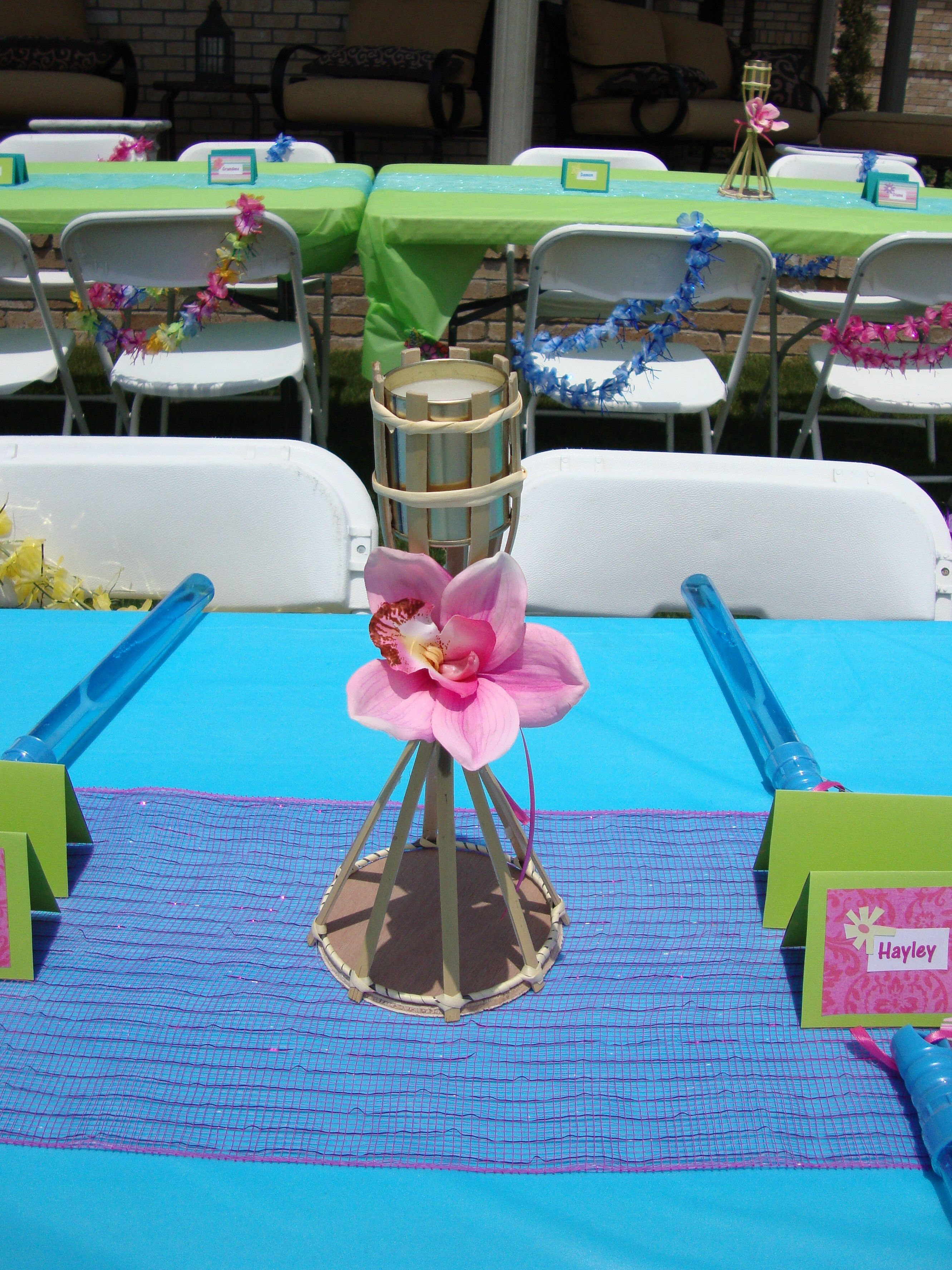 Tiki Torch Table Decorations.