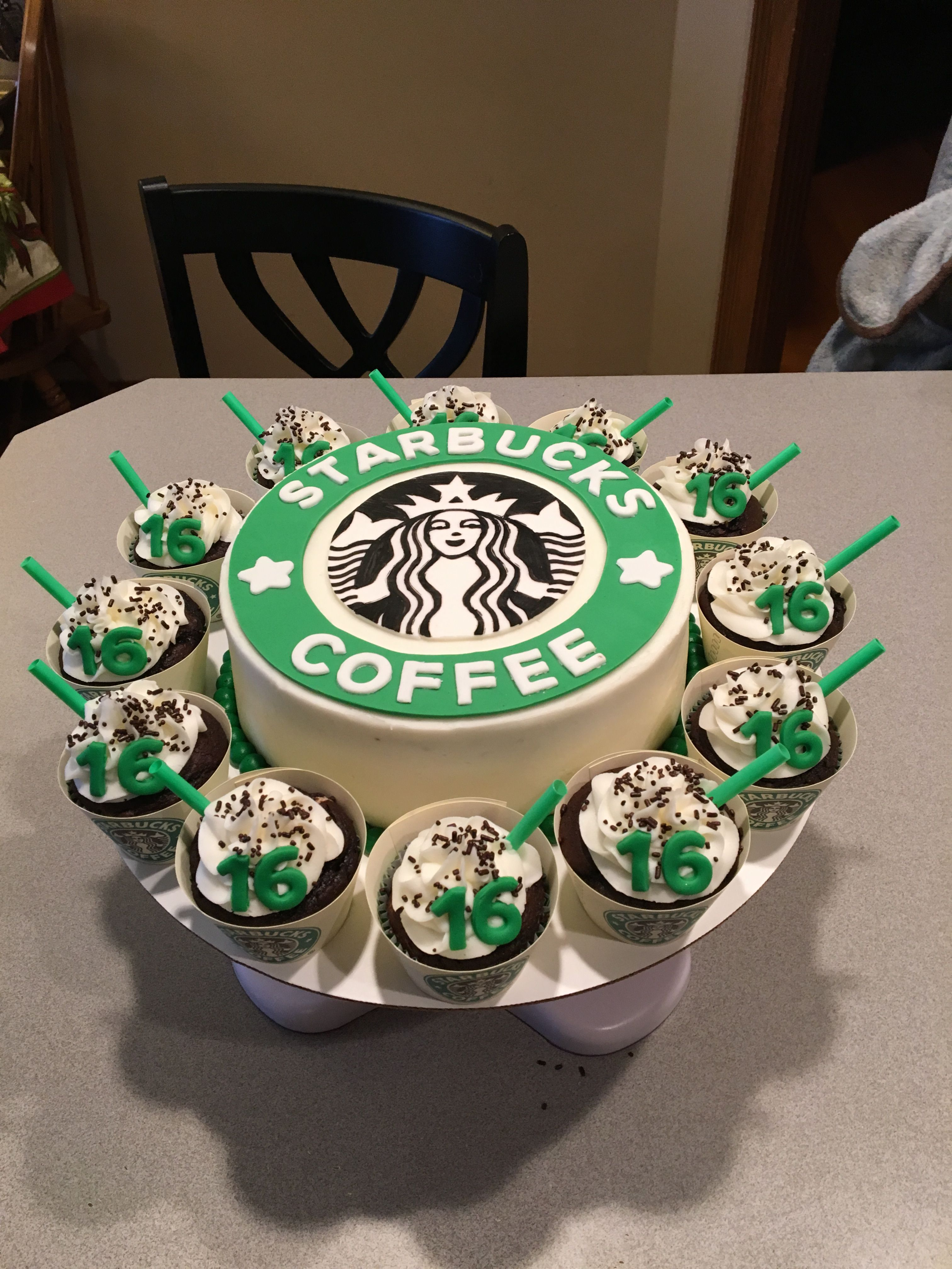 Cool Starbucks Cake And Cupcakes With Images Starbucks Cake Funny Birthday Cards Online Unhofree Goldxyz