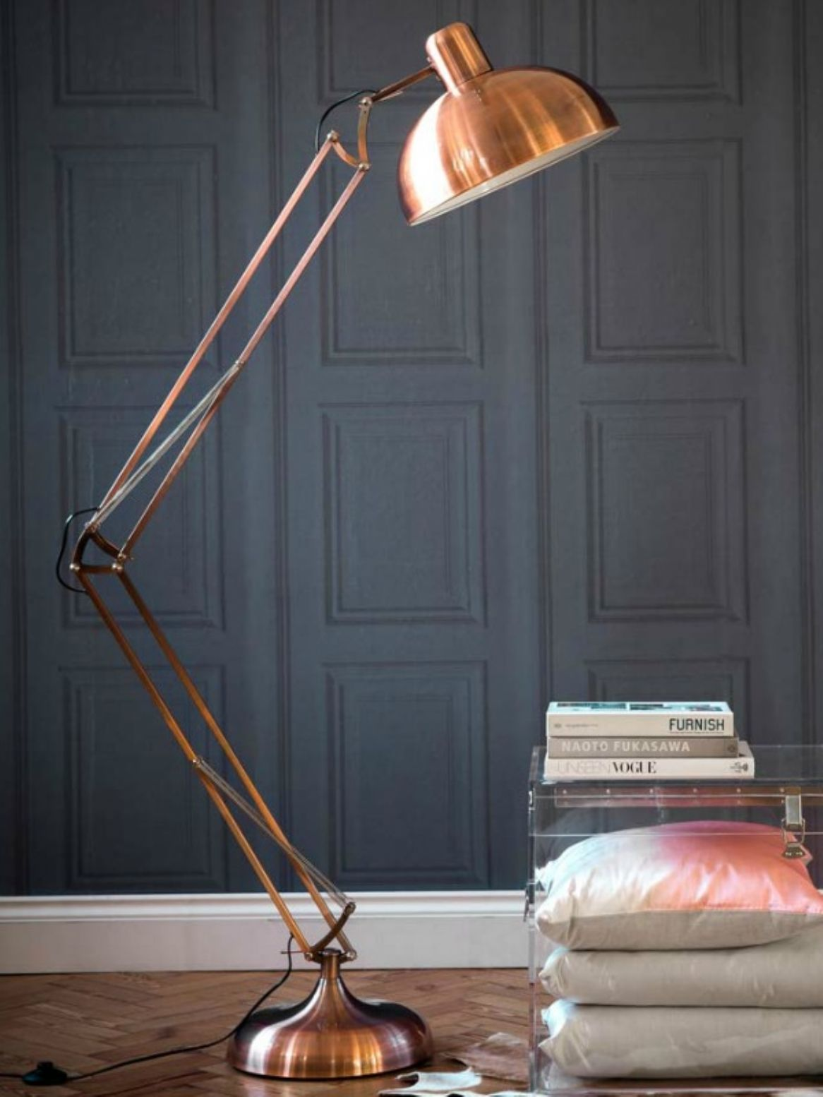 Copper angled floor lamp hallwaylanding pinterest floor lamp copper angled floor lamp aloadofball Gallery