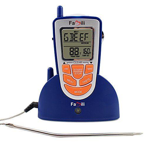 Famili Mt009 300 Feet Wireless Oven Thermometer Digital ...