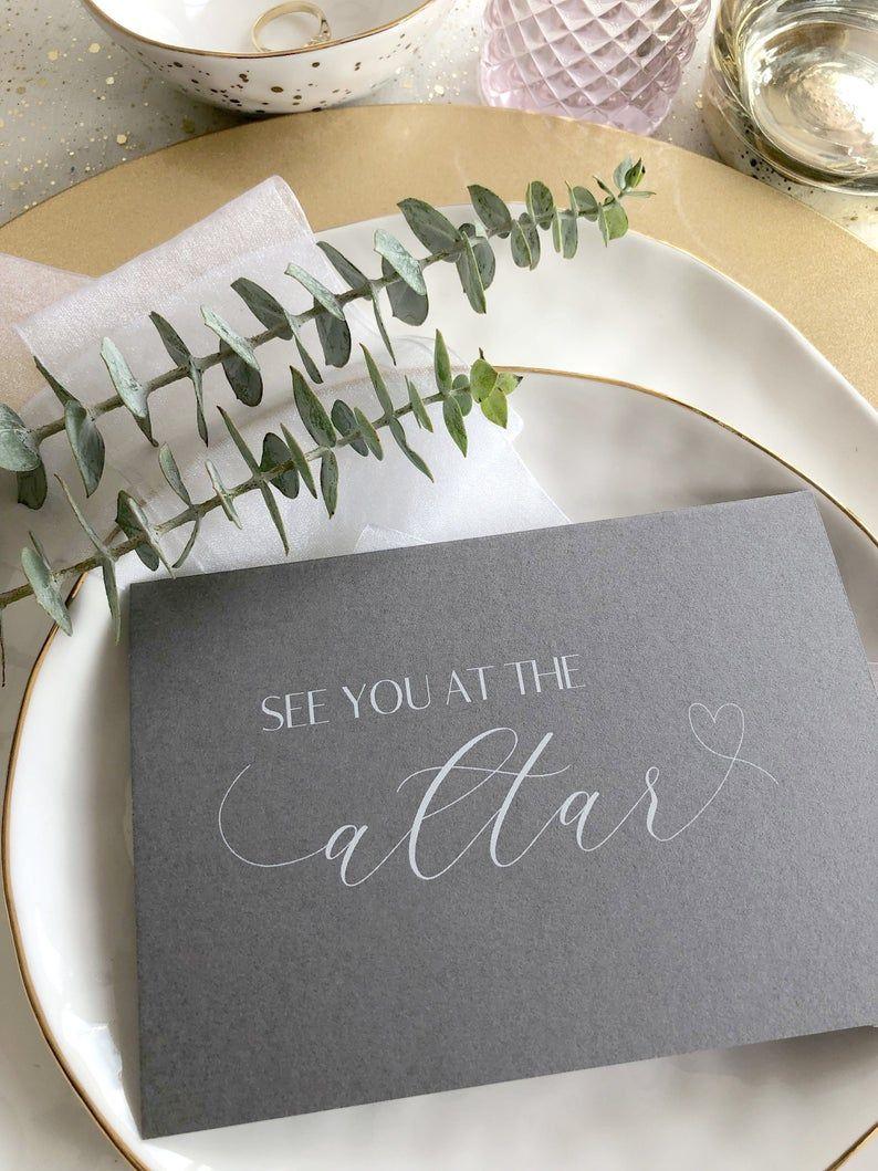 Elegant See You At The Altar Wedding Card Bride And Groom Gifts Wedding Cards Wedding Altars