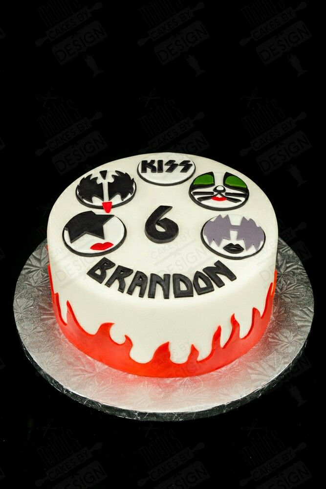 Kiss Band My Cakes In 2019 Cake Band Birthday Cake