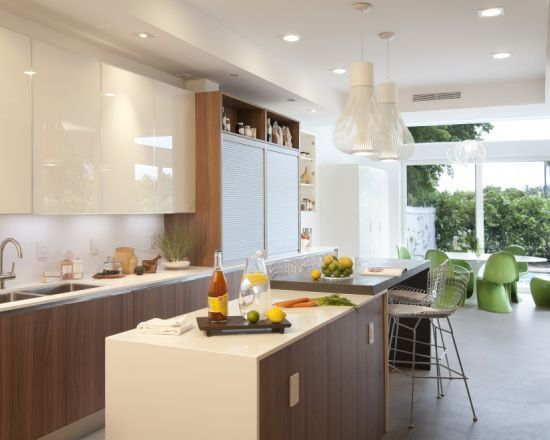 Dkor Interiors  A Modern Miami Home Interior Design  Dapur Glamorous Kitchen Cabinets Miami Decorating Inspiration