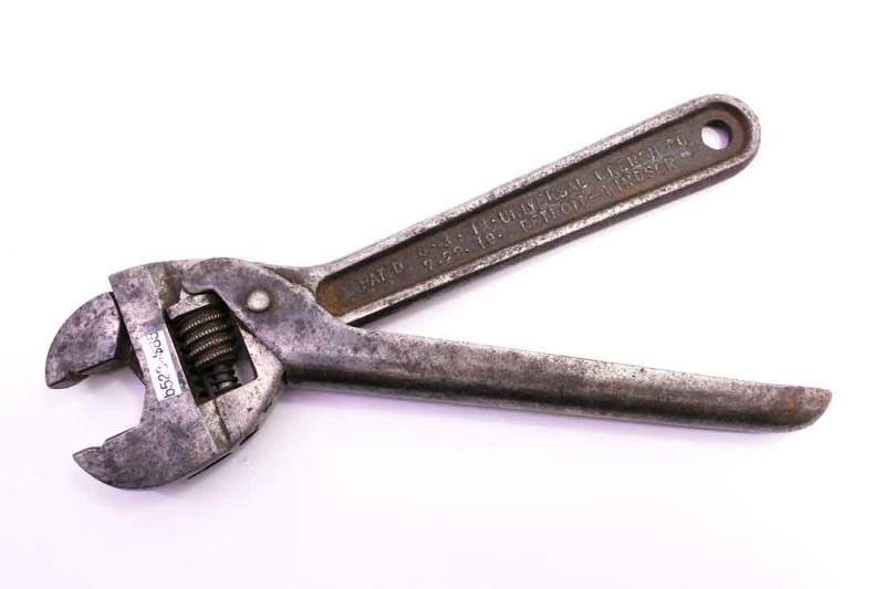 B5234 Universal Wrench Patent 1917 Quick Adjust Wrench 8 85 Antique Hand Tools Universal Wrench Wrench