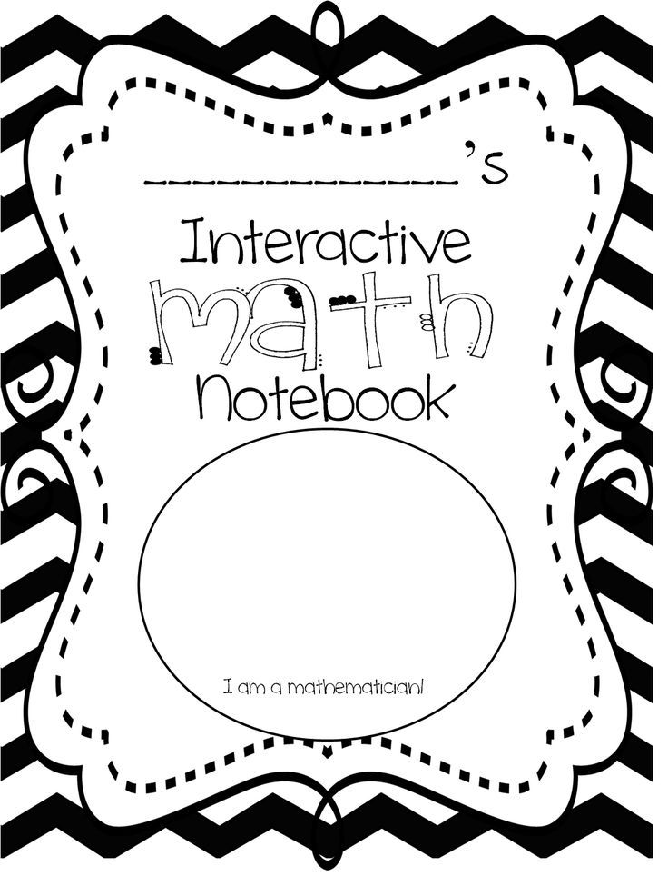 Image result for math notebook cover page   Math   Pinterest   Math ...