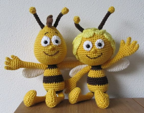 Maya And Willy The Bee Crochet Pattern Dutch English Häkeln