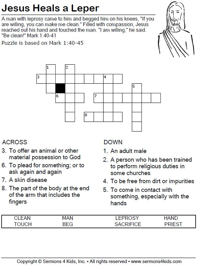 jesus heals the man with leprosy worksheet jesus heals a leper word search bible. Black Bedroom Furniture Sets. Home Design Ideas