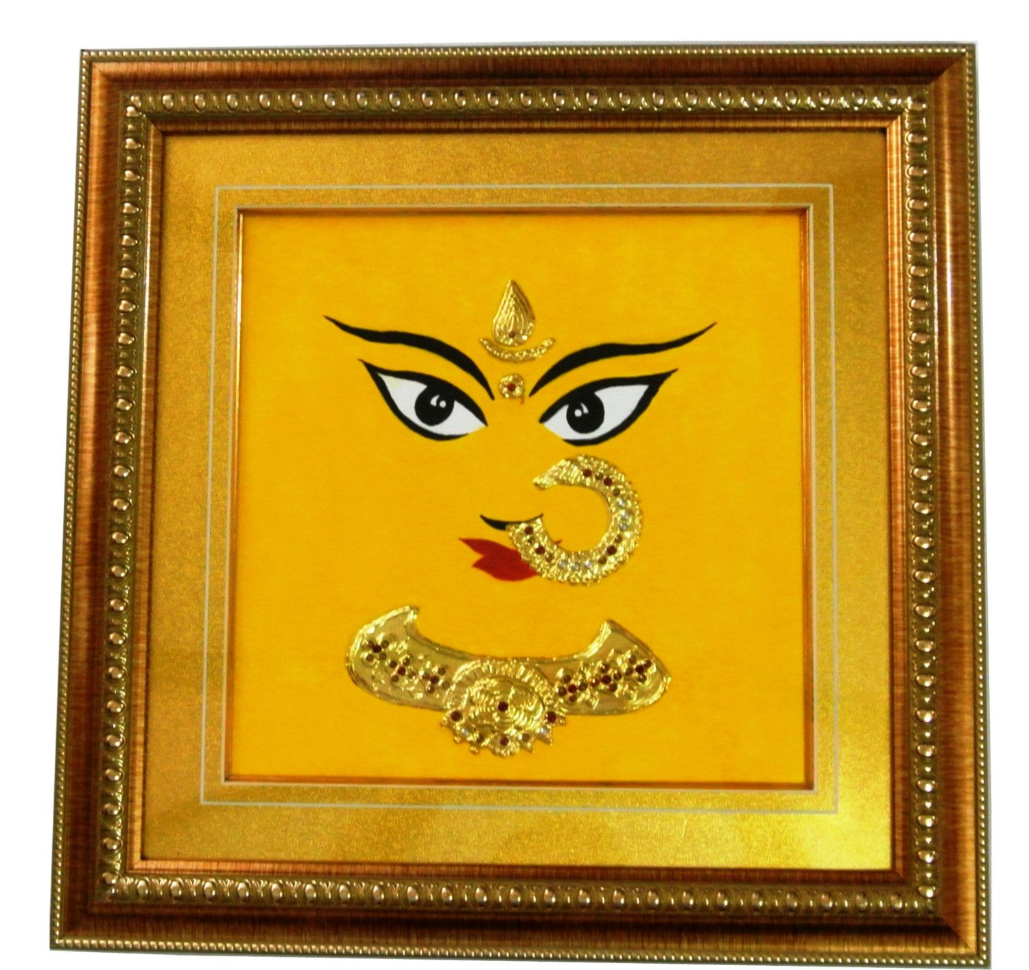 Tanjore Gold Foil Art Durga Acrylic Framed Ready to Hang South ...