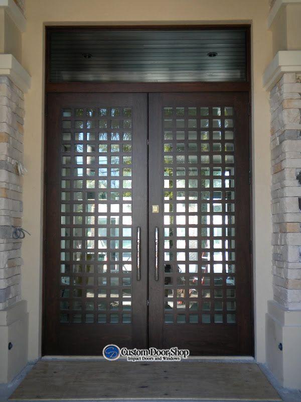Super Impactful Front Door Design Double Doors Made From Mahogany