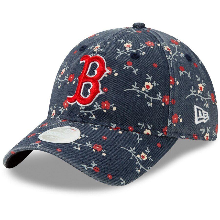 buy cheap performance sportswear autumn shoes Women's Boston Red Sox New Era Navy Blossom Floral 9TWENTY ...