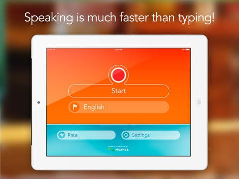 Speech Recogniser HD Convert your voice into text with