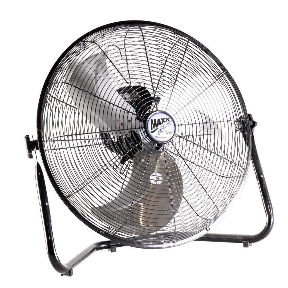 Maxx Air 20 In High Velocity Floor Fan Hvff 20ups Floor Fan Industrial Fan Portable Fan