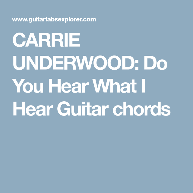 Dorable Carrie Underwood Chords Illustration - Beginner Guitar Piano ...
