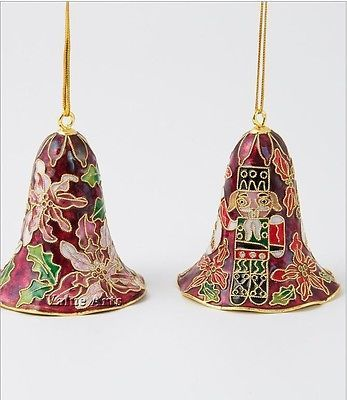 Value Arts Company Cloisonne Christmas Lily Bell Ornament Set of 12