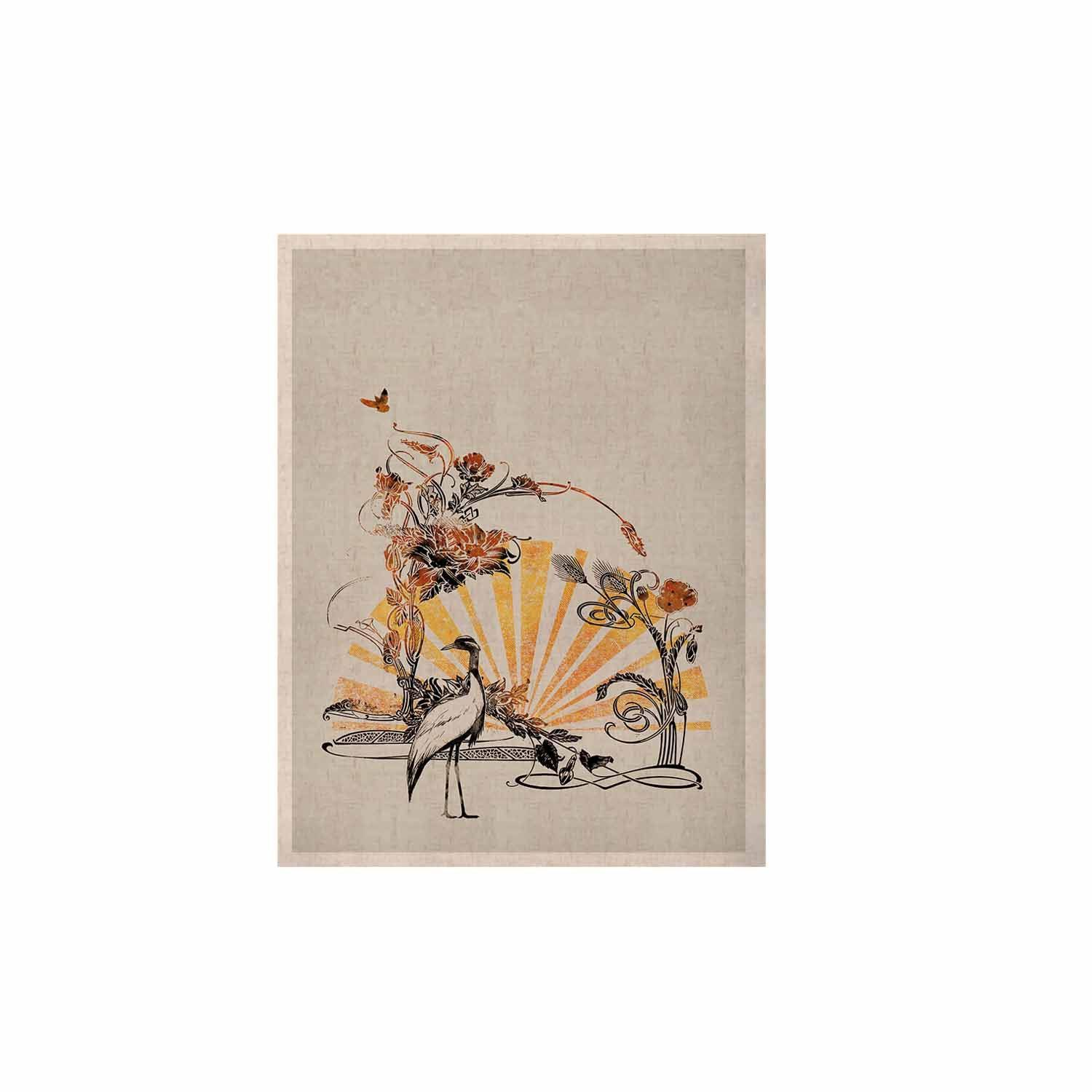 """Federic Levy-Hadida """"Art Nouveau Tune"""" Beige Orange KESS Naturals Canvas (Frame not Included)"""