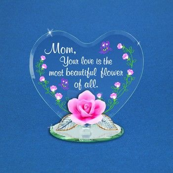 Glass Baron Most Beautiful Flower Mom Heart Valentines Love