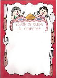 Resultado de imagen de carteles infantiles del comedor