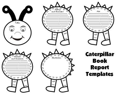 Caterpillar Book Report Project: templates, worksheets