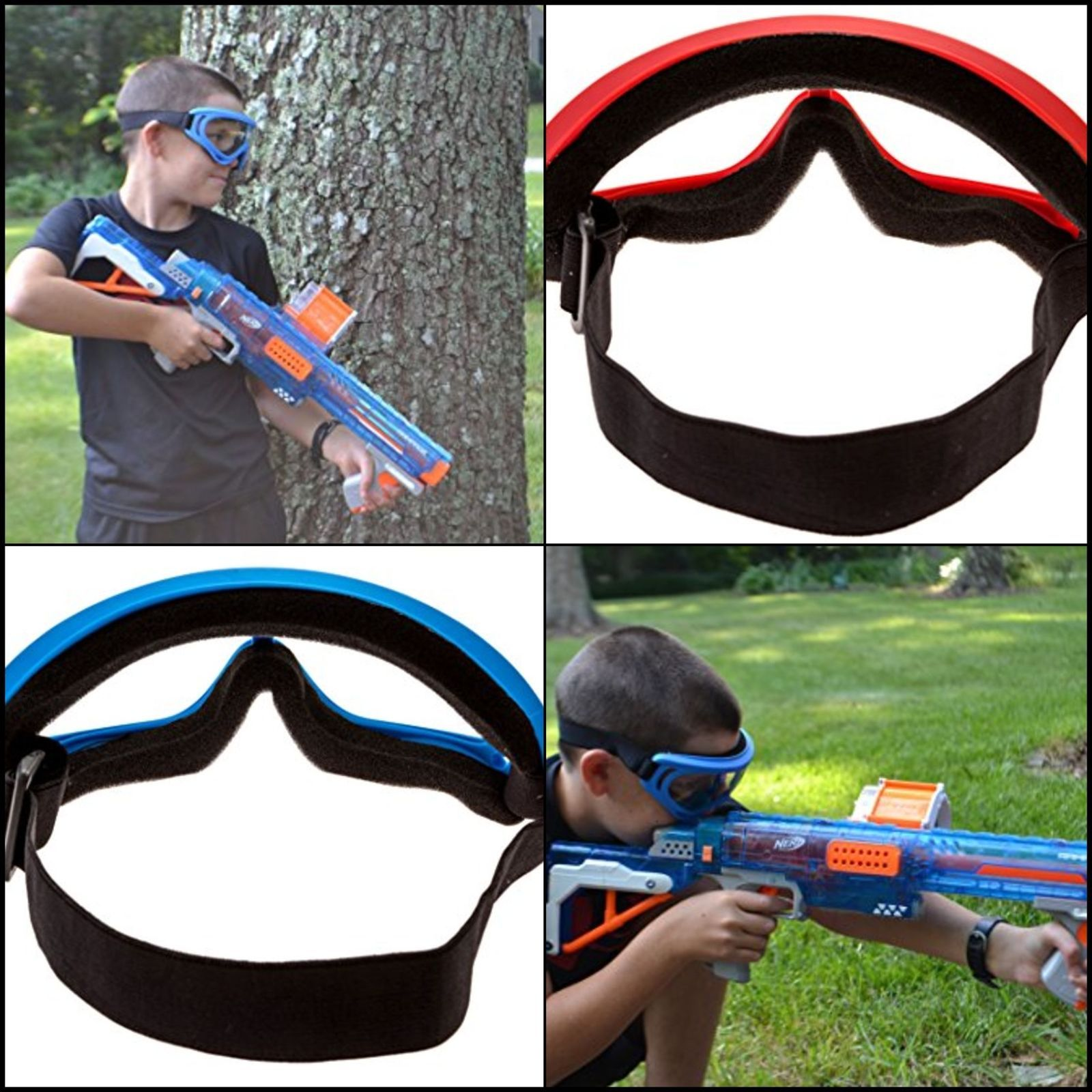 2 Pack Face Mask Safety Goggles Eye Shield Protection Nerf Kids Toy Gun Blaster