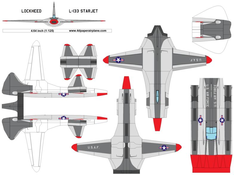 4D Model Template Of Lockheed L 133 Starjet4dpa LockheedstarjetL133 StarjetL133