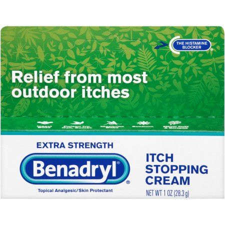 Benadryl Extra Strength Itch Stopping Cream 1 Oz Multicolor
