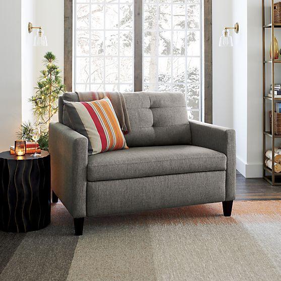 Karnes Twin Sleeper Sofa In Sleeper Sofas Crate And Barrel With