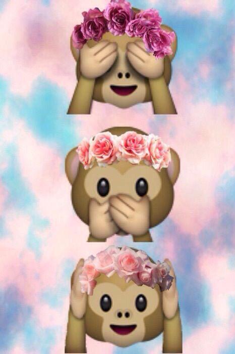 Singe Dans Le Ciel Fond Ecran Emoji Papiers Peints Mignons Emoji Mignon