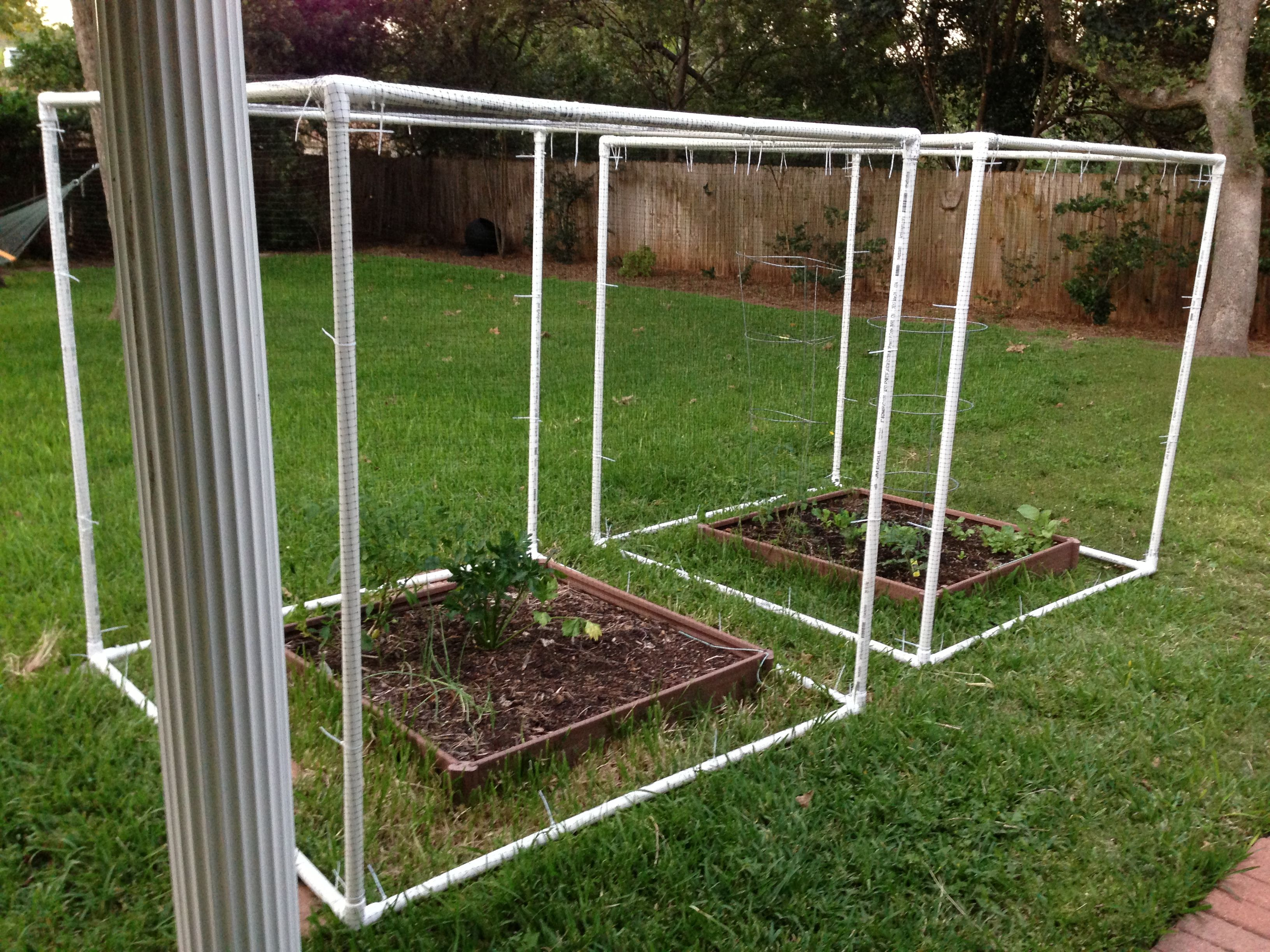 Pvc Square Bird Net Zip Ties Safe Plants Roll It Over For