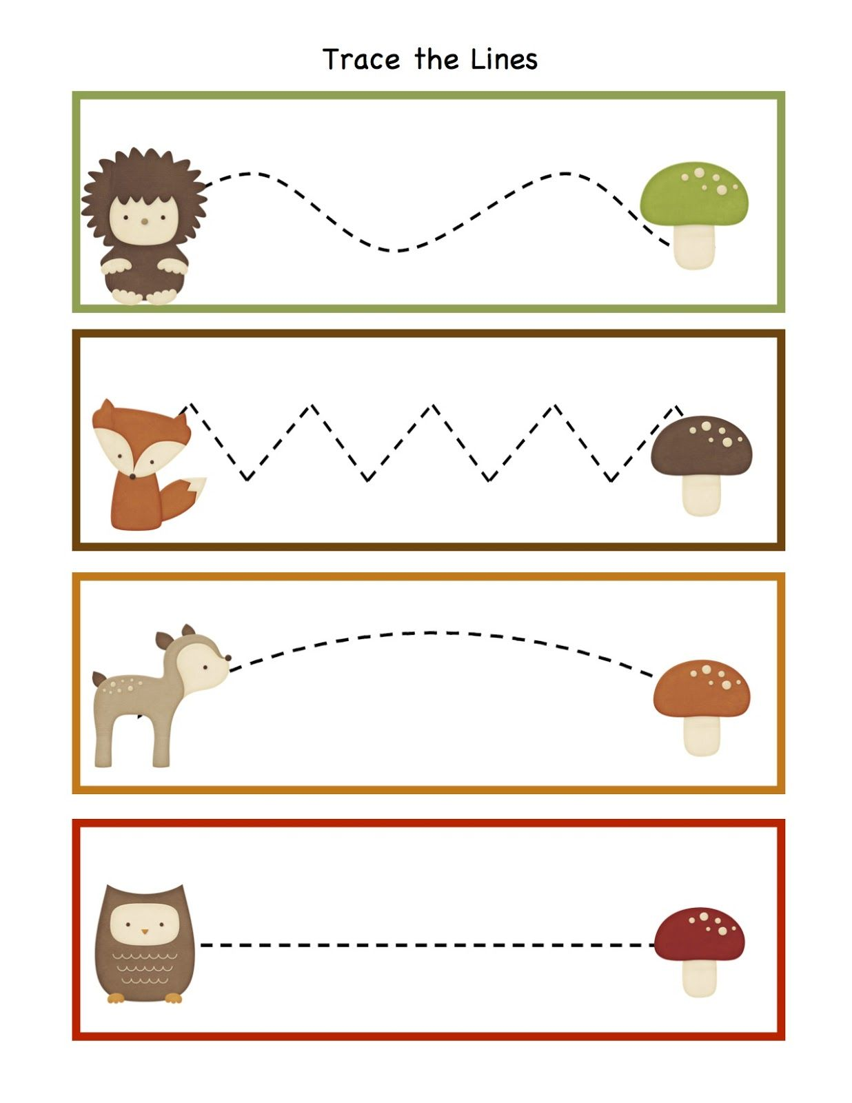 Preschool Printables Forest Animals Forest Animals Preschool Forest Preschool Preschool Tracing [ 1600 x 1236 Pixel ]