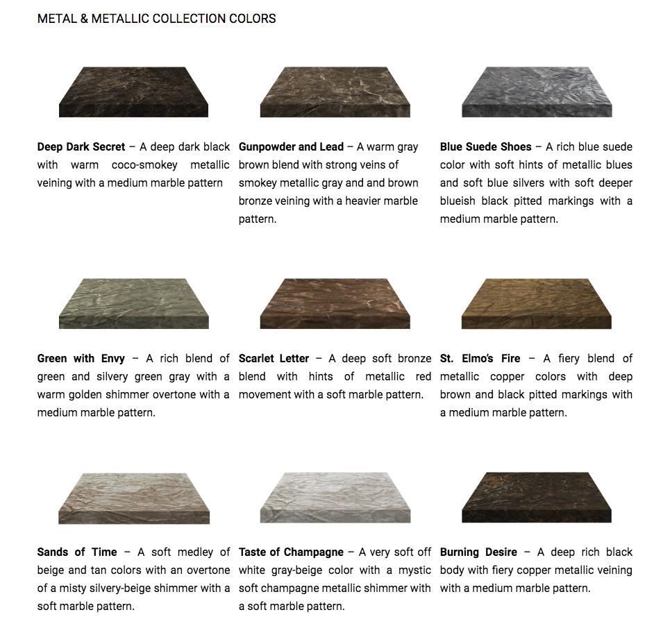 Metal and Metallic DIY Countertop kit. Refinish countertops in 4 Easy Steps