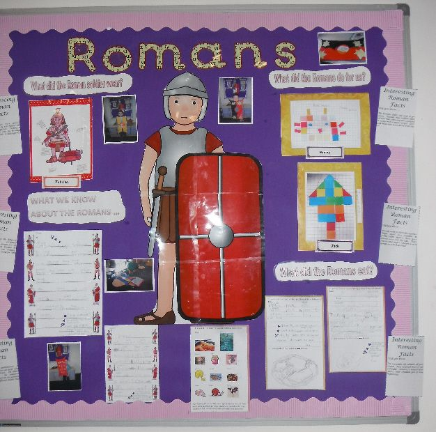 Art Ideas Ourselves Topic: Romans Classroom Display Photo