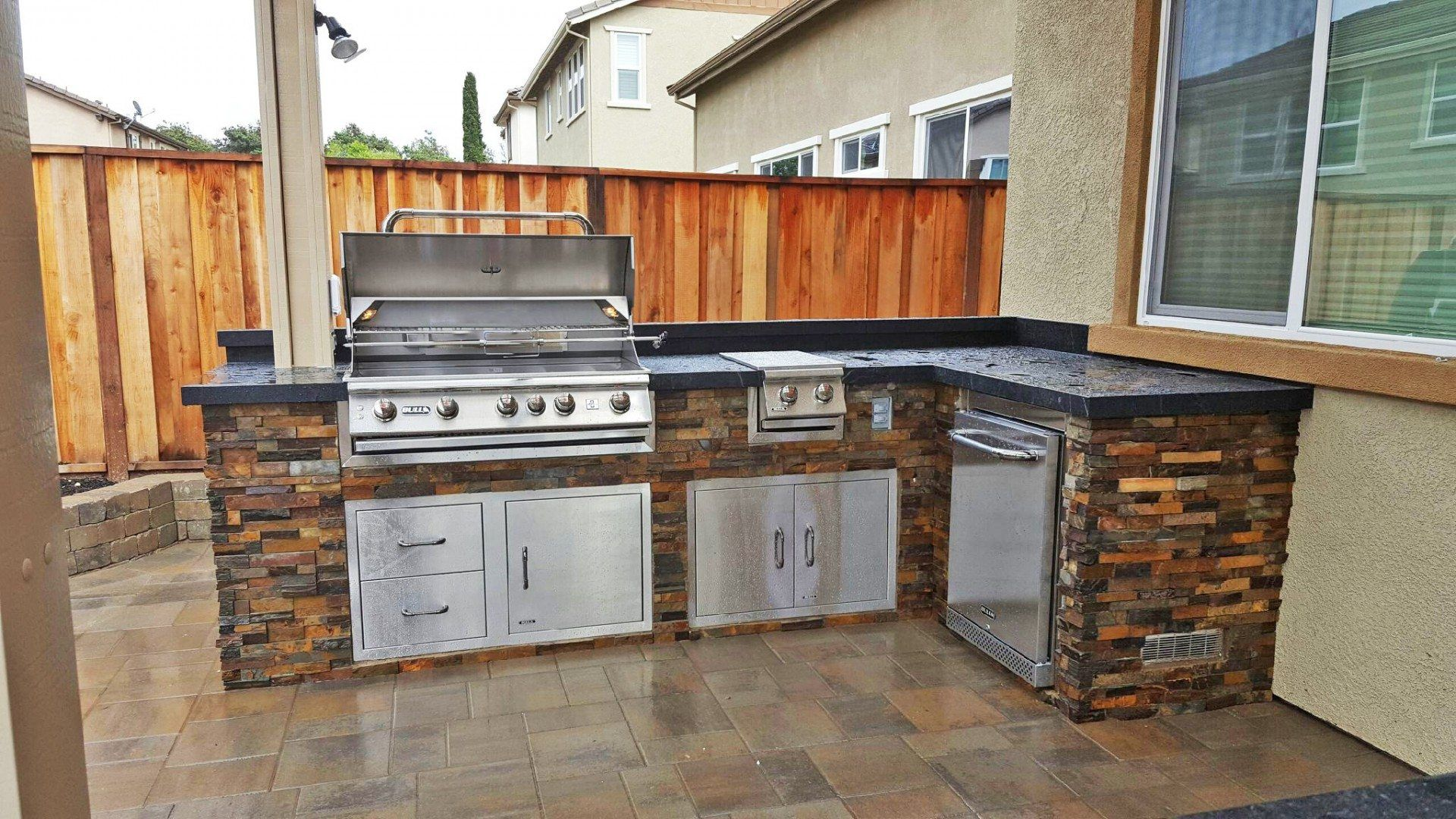 Outdoor Kitchen Island Without Grill in 2020 Outdoor