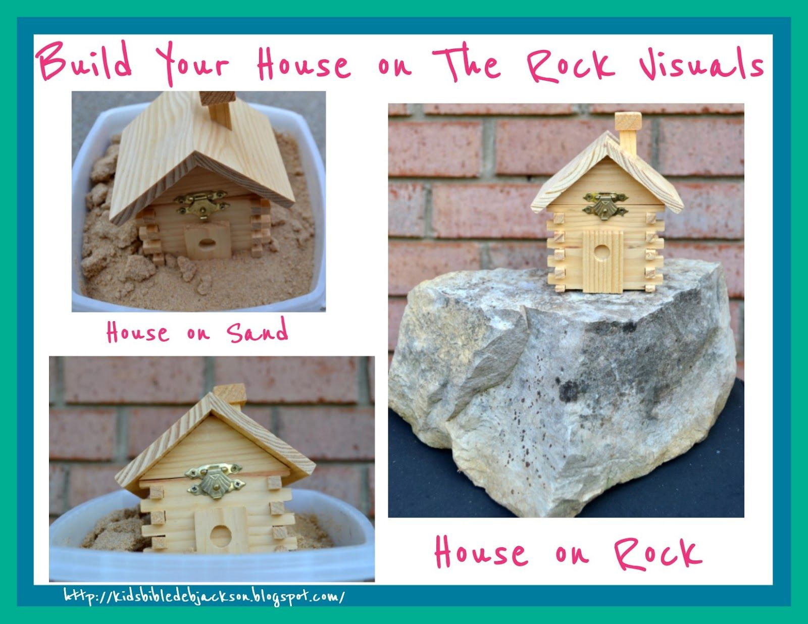 Wise man built his house upon the rock sermon - Parable Of Build Your House On The Rock Be A Light With Teacher S Visuals